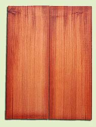 "RWMSB13912 - Redwood, Mandolin Arch Top Soundboard, Fine Grain Salvaged Old Growth, Excellent Color, Highly Resonant Mandolin Tonewood, Yields Superior Sound, 2 panels each 0.875"" x 6"" X 16"", S1S"