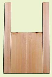 """CDMS14176 - Port Orford Cedar, Mandolin Flat Top Back & Side Set, Fine Grain with Amazing Stiffness, Excellent Color, Highly ResonantMandolin Tonewood, Yields Amazing Sound & Projection, 2 panels each 0.19"""" x 6"""" X 16"""", S1S, and 2 panels each 0.18"""" x 2.75"""