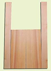 """CDMS14177 - Port Orford Cedar, Mandolin Flat Top Back & Side Set, Fine Grain with Amazing Stiffness, Excellent Color, Highly ResonantMandolin Tonewood, Yields Amazing Sound & Projection, 2 panels each 0.19"""" x 6"""" X 16"""", S1S, and 2 panels each 0.18"""" x 2.75"""
