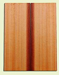 """RCMSB14230 - Western Redcedar, Mandolin Flat Top Soundboard Set, Med. to Fine Grain Salvaged Old Growth, Excellent Color, Amazingly Resonant, Rings Like Fine Crystal, 2 panels each 0.2"""" x 6"""" X 16"""", S1S"""