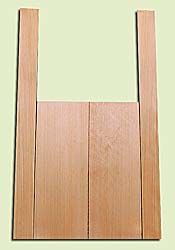 """CDMS14314 - Port Orford Cedar, Mandolin Flat Top Back & Side Set, Medium to Fine Grain Salvaged Old Growth, Excellent Color, OutstandingLuthier Tonewood, Makes Amazing Sounding Mandolins, 2 panels each 0.2"""" x 6"""" X 16"""", S1S, and 2 panels each 0.2"""" x 2.25"""""""