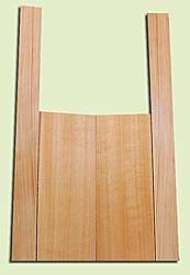 """CDMS14317 - Port Orford Cedar, Mandolin Flat Top Back & Side Set, Medium to Fine Grain Salvaged Old Growth, Excellent Color, OutstandingLuthier Tonewood, Makes Amazing Sounding Mandolins, 2 panels each 0.2"""" x 6"""" X 16"""", S1S, and 2 panels each 0.2"""" x 2.25"""""""