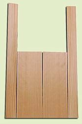 """CDMS14319 - Port Orford Cedar, Mandolin Flat Top Back & Side Set, Medium to Fine Grain Salvaged Old Growth, Excellent Color, OutstandingLuthier Tonewood, Makes Amazing Sounding Mandolins, 2 panels each 0.2"""" x 6"""" X 16"""", S1S, and 2 panels each 0.2"""" x 2.25"""""""