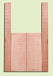 """MAMS14881 - Western Big Leaf Maple, Mandolin Arch Top Back & Side Set, Salvaged Old Growth, Excellent Color& Curl, TraditionalMandolin Tonewood, Visually Stunning, 2 panels each 0.9"""" x 6"""" X 16"""", S1S, and 2 panels each 0.15"""" x 2.5"""" X 28"""", S1S"""