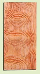 """DFMHS15037 - Flat Sawn Curly Douglas Fir, Mandolin Headstock Plate, Very Good Figure & Colors, Adds Pazzazz, Multiples Available,  each 0.15"""" x 4"""" X 8"""""""