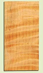 """CDMHS16863 - Curly Port Orford Cedar, Mandolin Headstock Plate, Air Dried, Excellent Colors& Curl, Adds Pazzazz, Multiples Available, each 0.15"""" x 4"""" X 8"""""""