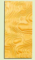 "DFMHS16874 - Curly Flatsawn Douglas Fir, Mandolin Headstock Plate, Air Dried, Very Good Color & Curl, Adds Pazzazz, Multiples Available, each 0.15"" x 3.5"" X 7"""